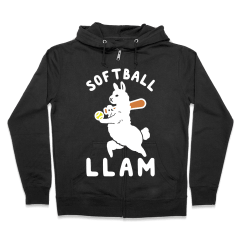 Softball Llam Zip Hoodie