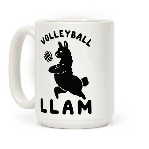 Volleyball Llam Coffee Mug
