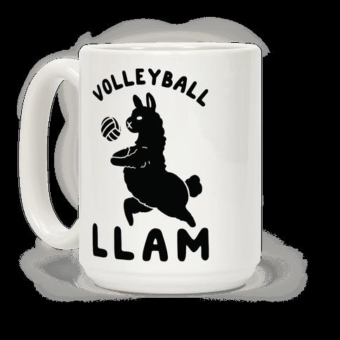Volleyball Llam Coffee Mug