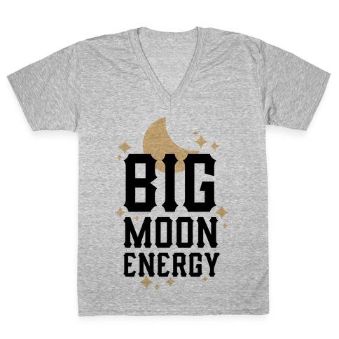 Big Moon Energy V-Neck Tee Shirt