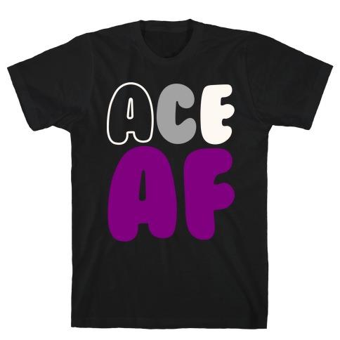 Ace Af White Print T-Shirt
