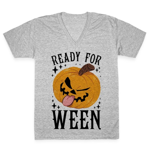 Ready For Ween V-Neck Tee Shirt
