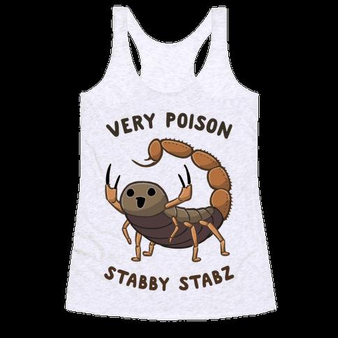 Very Poison Stabby Stabz Racerback Tank Top