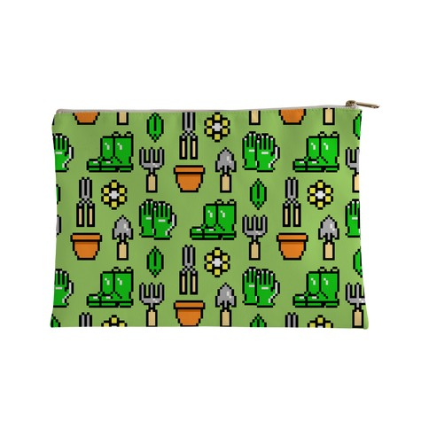 Pixel Gardening Tool Pattern Accessory Bag