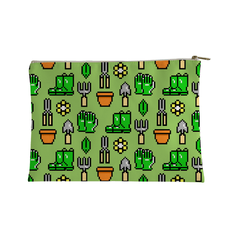 Pixel Gardening Tool Pattern Accessory Bag