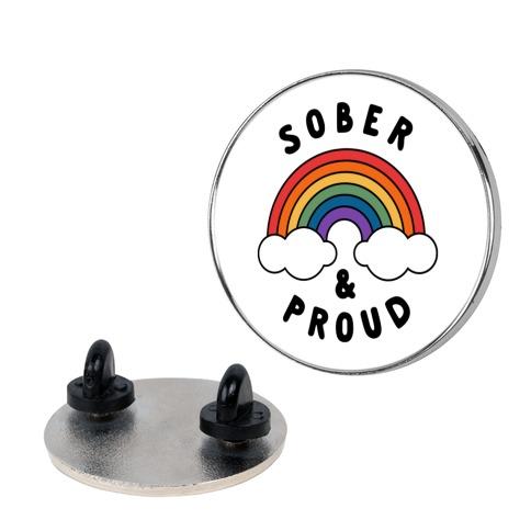 Sober And Proud Pin