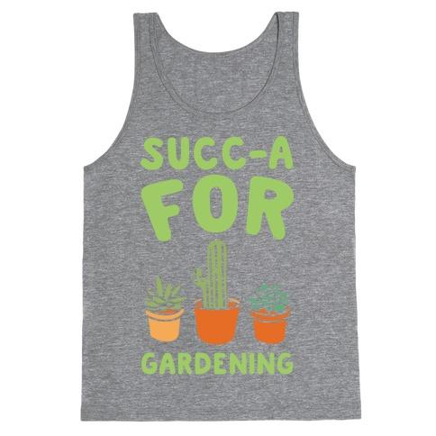 Succ-a For Plants Succulent Plant Parody White Print Tank Top
