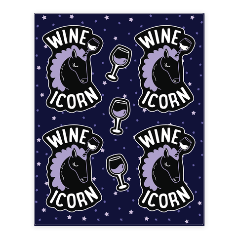 Wineicorn Sticker/Decal Sheet
