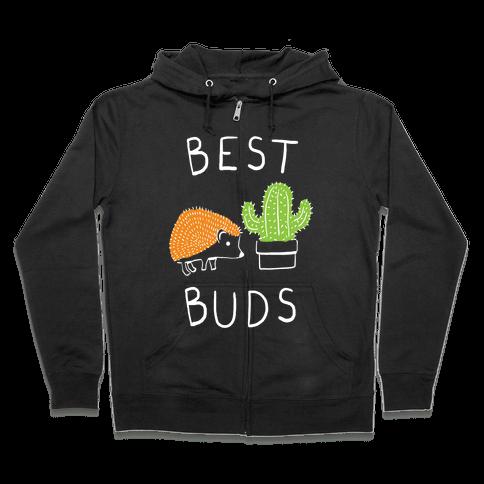 Best Buds Hedgehog Cactus Zip Hoodie