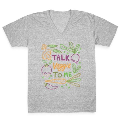 Talk Veggie To Me V-Neck Tee Shirt