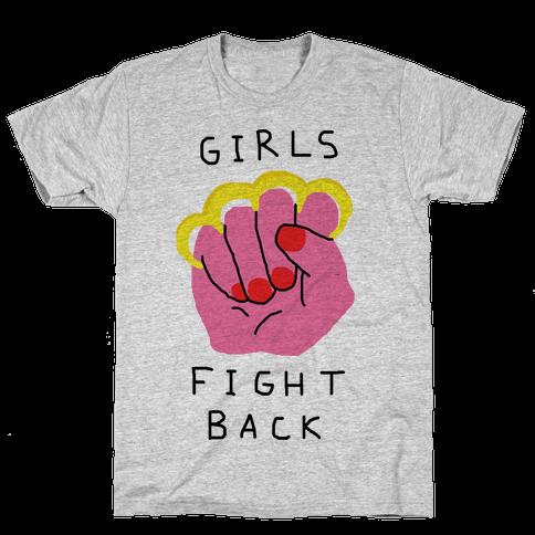 Girls Fight Back Mens T-Shirt