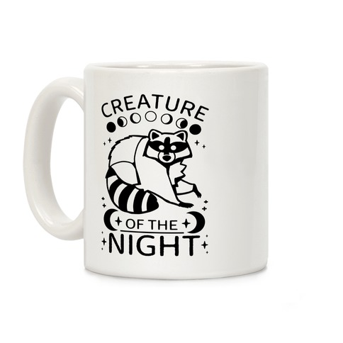 Creature Of The Night Raccoon Coffee Mug