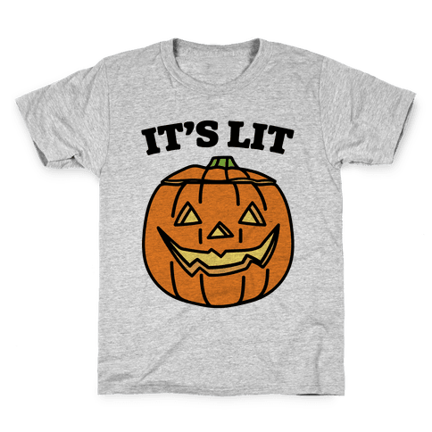 It's Lit Jack O' Lantern Kids T-Shirt