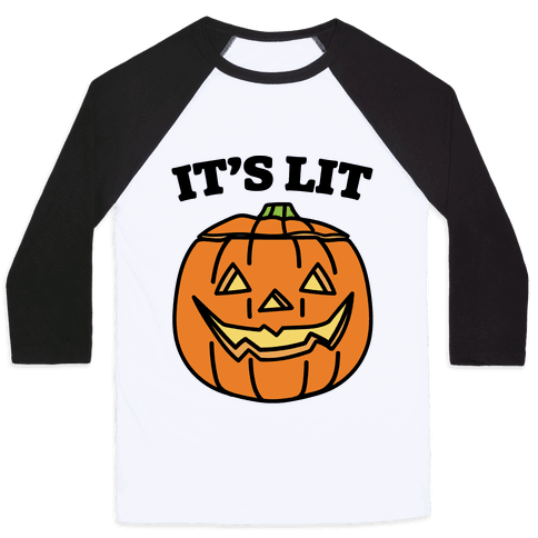 It's Lit Jack O' Lantern Baseball Tee