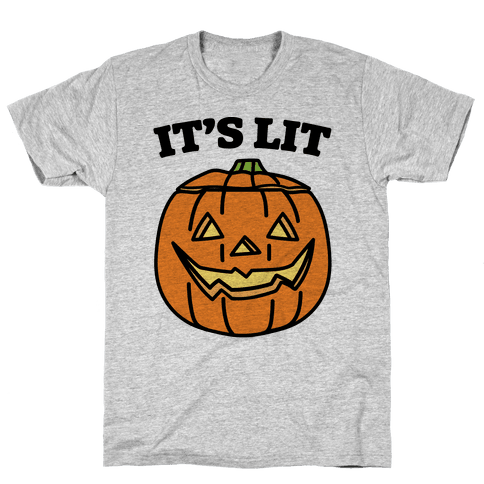 It's Lit Jack O' Lantern Mens T-Shirt