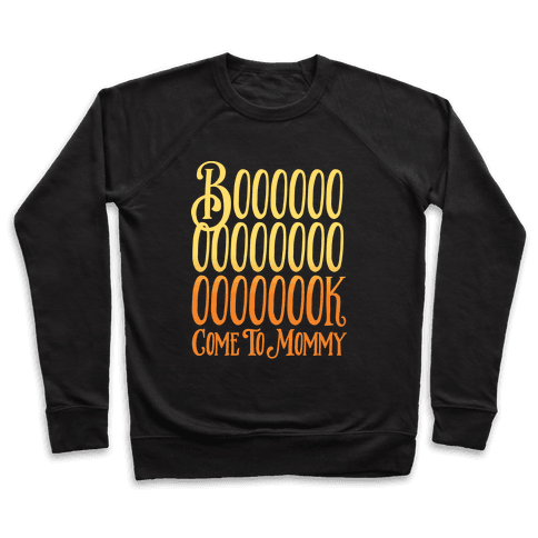 Book Come To Mommy Parody White Print Pullover