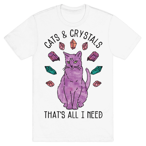 Cats and Crystals Mens T-Shirt