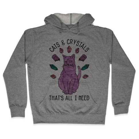 Cats and Crystals Hooded Sweatshirt