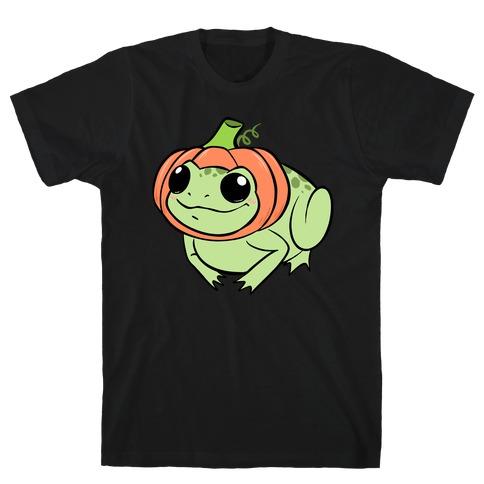 Frog In A Pumpkin Hat T-Shirt