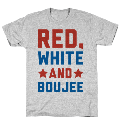 Red White And Boujee Mens T-Shirt