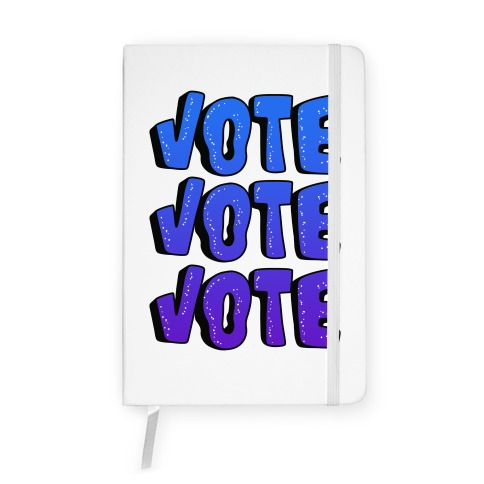 Vote Vote Vote! (Blue Gradient) Notebook