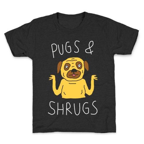 Pugs And Shrugs Dog Kids T-Shirt