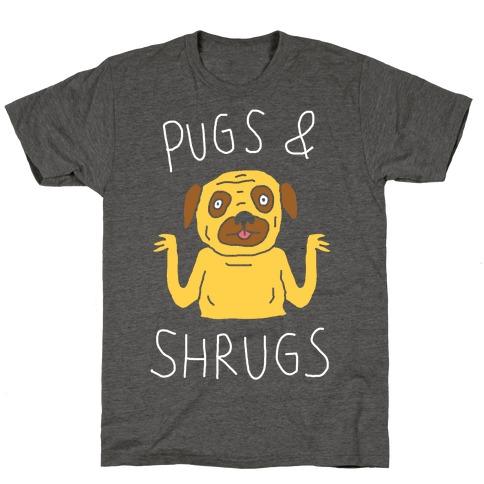Pugs And Shrugs Dog T-Shirt