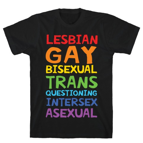 LGBTQIA List Mens T-Shirt