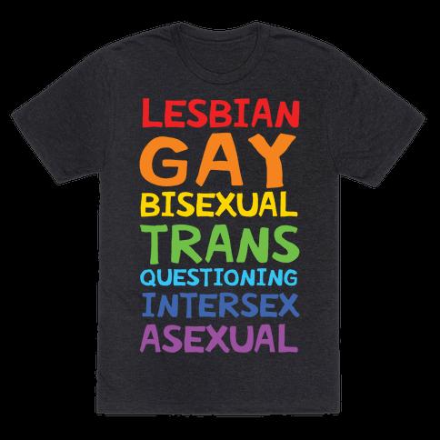 LGBTQIA List Mens T-Shirt