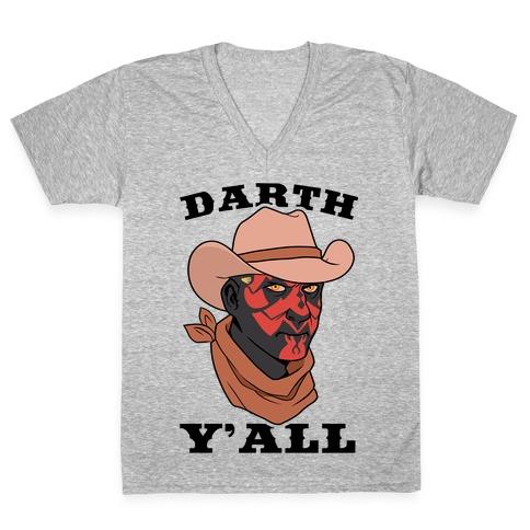 Darth Y'all V-Neck Tee Shirt