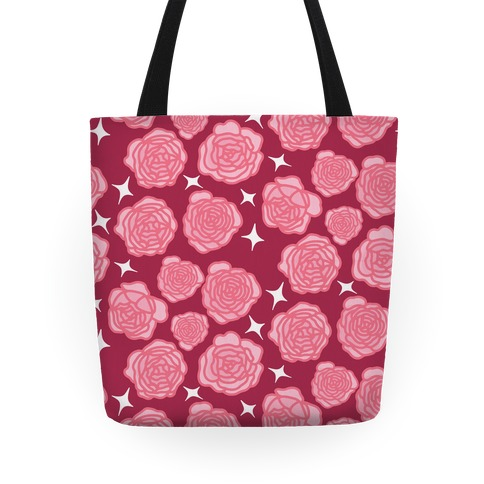 Pink Sparkle Roses Pattern Tote