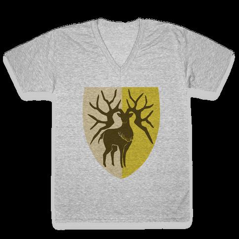 Golden Deer Crest - Fire Emblem V-Neck Tee Shirt
