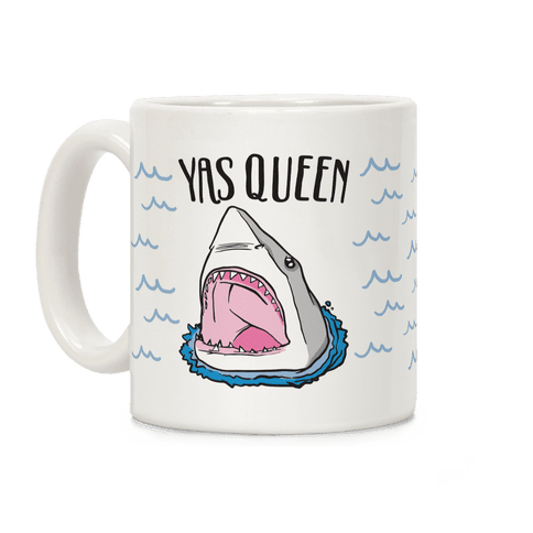 Yas Queen Shark Coffee Mug