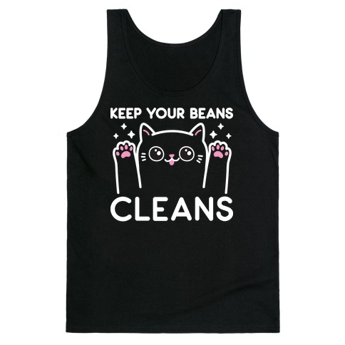 Keep Your Beans Cleans Cat Tank Top