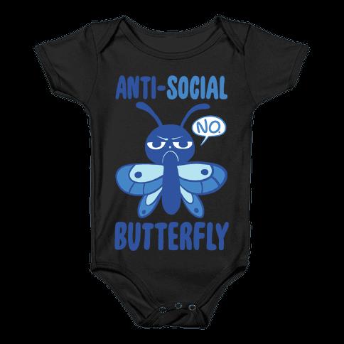 Anti-Social Butterfly Baby Onesy
