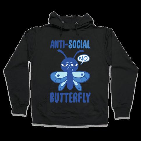 Anti-Social Butterfly Hooded Sweatshirt