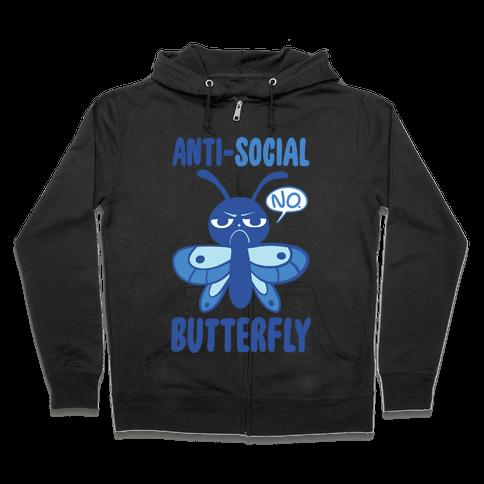 Anti-Social Butterfly Zip Hoodie