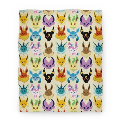 Eeveelution Pattern Blanket