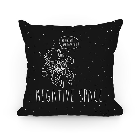 Negative Space Pillow