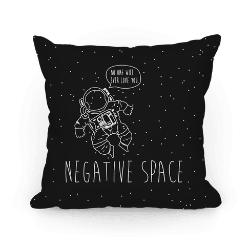 Negative Space Pillow