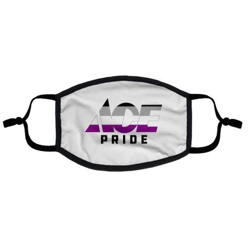 Ace Pride Parody Logo Flat Face Mask