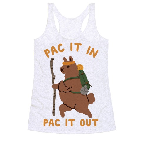 Pac It In Pac It Out Backpacking Alpaca Racerback Tank Top