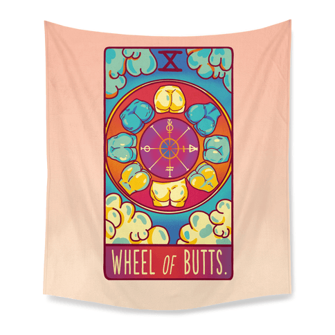 Wheel of Butts Tarot Tapestry
