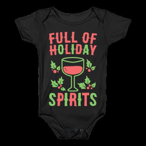 Full of Holiday Spirits Baby Onesy