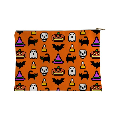 Pixel Halloween Pattern Accessory Bag
