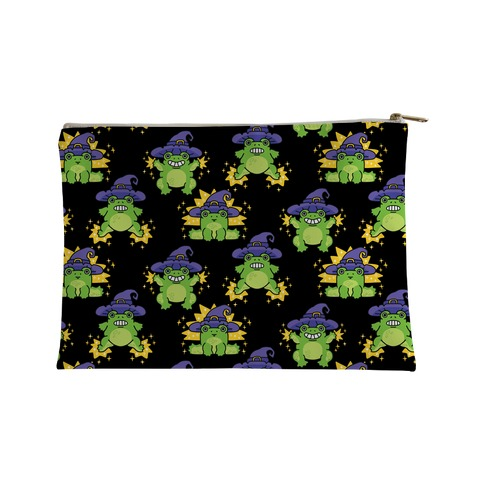 Magical Frog Witch Pattern Accessory Bag