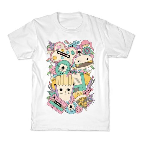 90s Toys Candy and Makeup Kids T-Shirt
