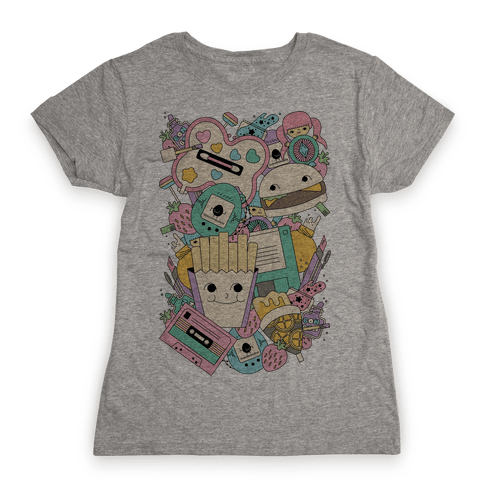 90s Toys Candy and Makeup Womens T-Shirt