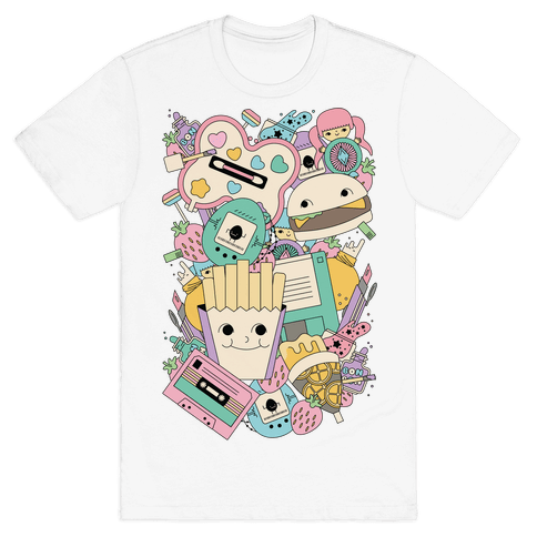 90s Toys Candy and Makeup Mens T-Shirt