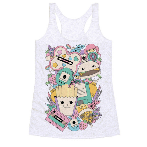 90s Toys Candy and Makeup Racerback Tank Top